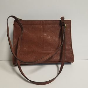 Beautiful brown hand bag with adjustable arm strap